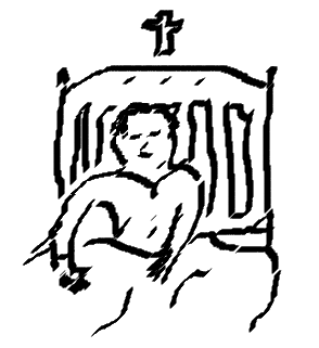 A boy in bed